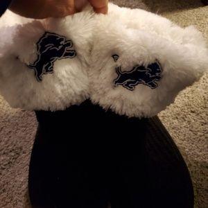 Detroit lions slipper boots